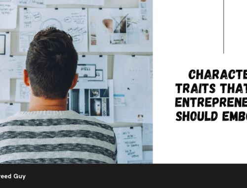 character traits that an entrepreneur should embody