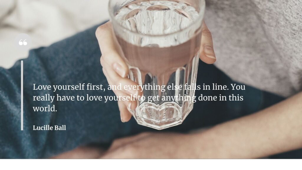 self-care making the most of yourself