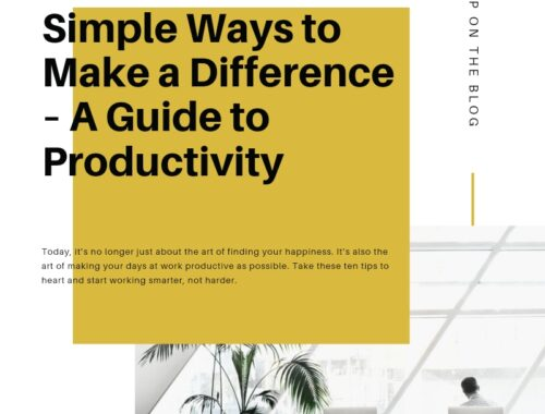 simple ways to make a difference a productivity guide